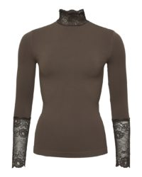 All-lace top – Coffee – Tim&Simonsen