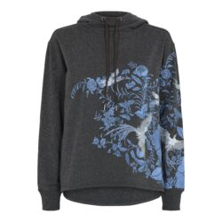 Hoodie – Cia with embroidery – Grey – Gustav