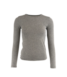 Bluse – Faye mesh blouse – Grey  – Black Colour